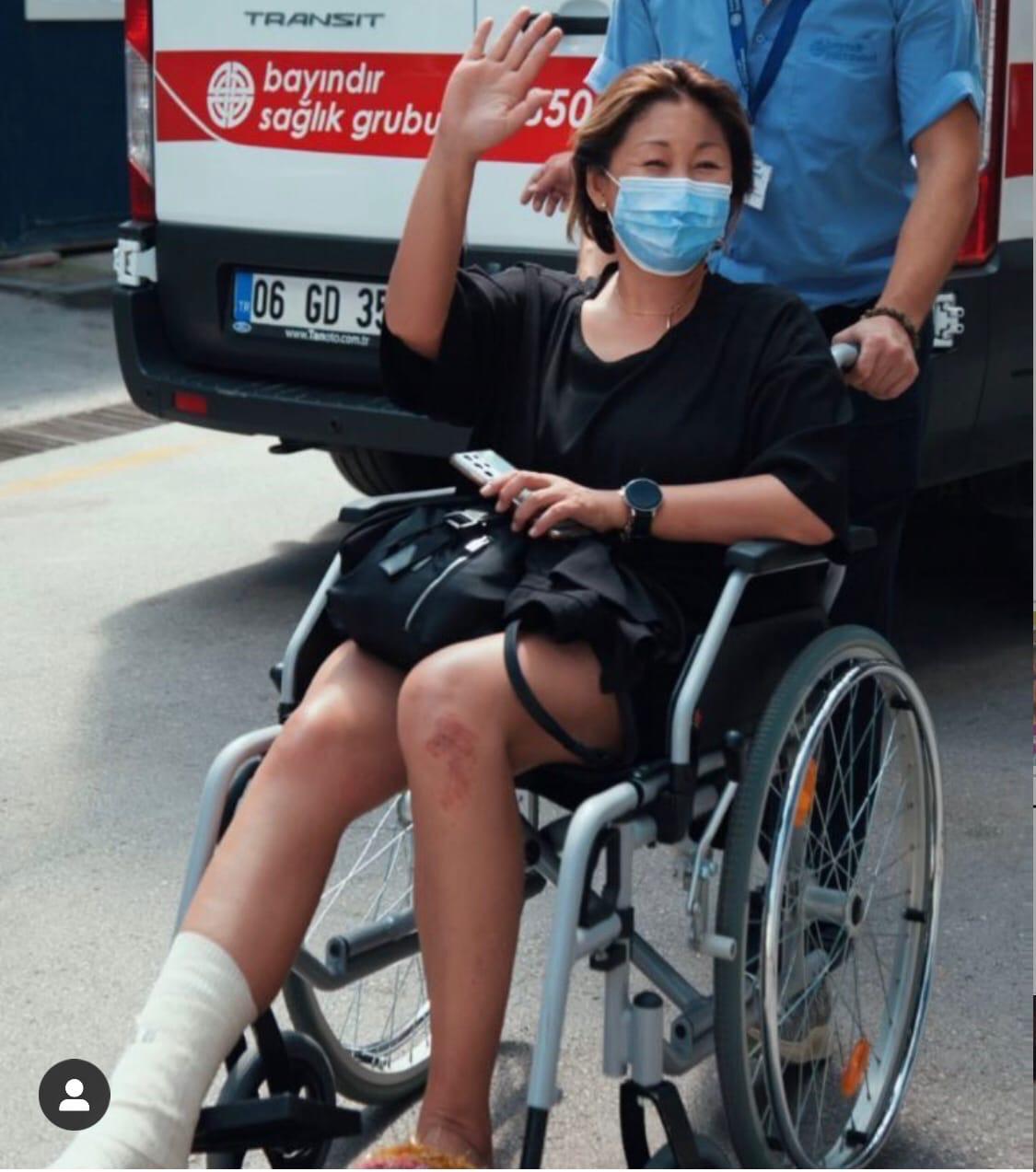 """Little incident"": Anita Tsoi was in a wheelchair"