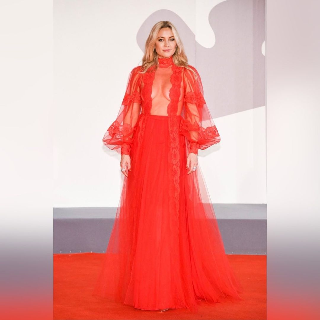 Kate Hudson appeared at the Venice Film Festival in a transparent outfit and no underwear