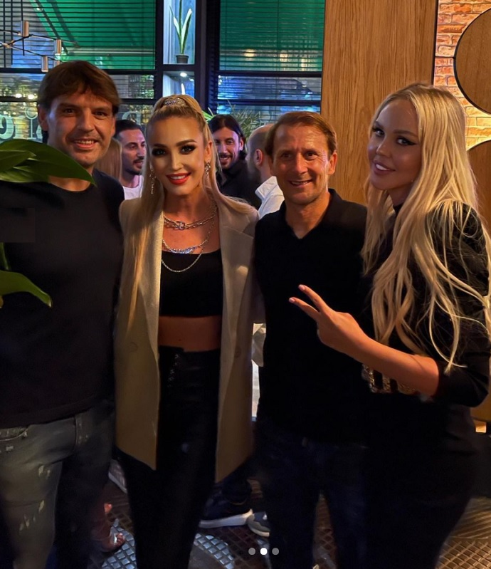 Olga Buzova spotted at a party with several players at once