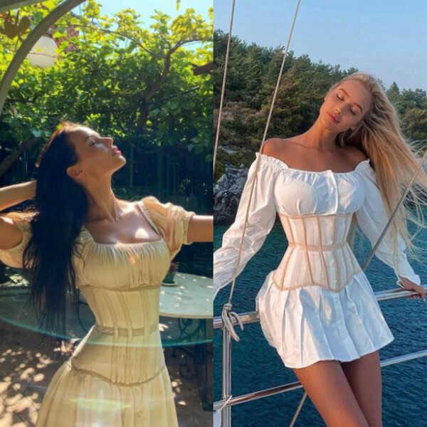 The network suspected that Timati was giving Anastasia Reshetova's old clothes to wear Sasha Doni