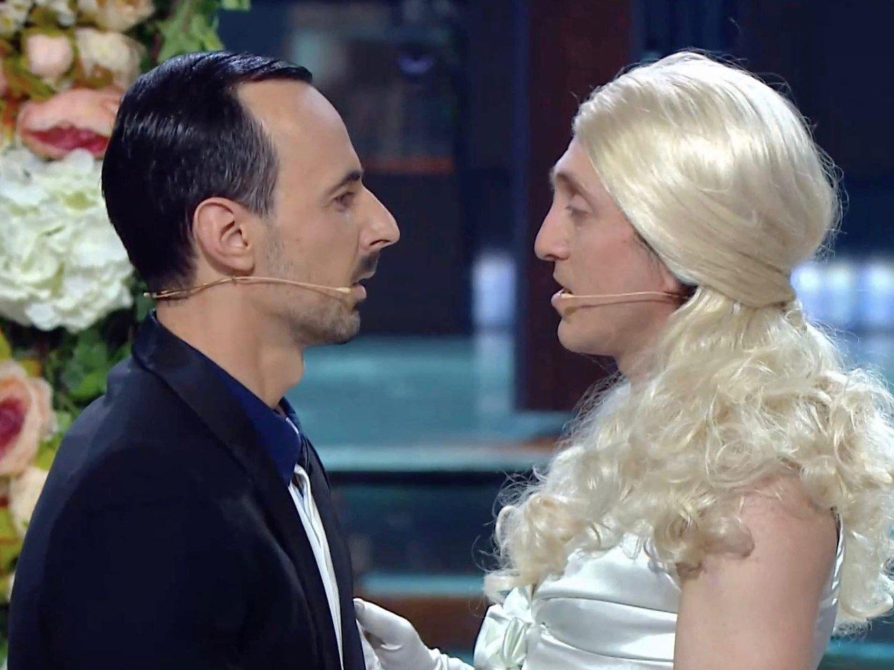 Георгий Дронов не оценил поцелуй комиков на шоу «Игра»