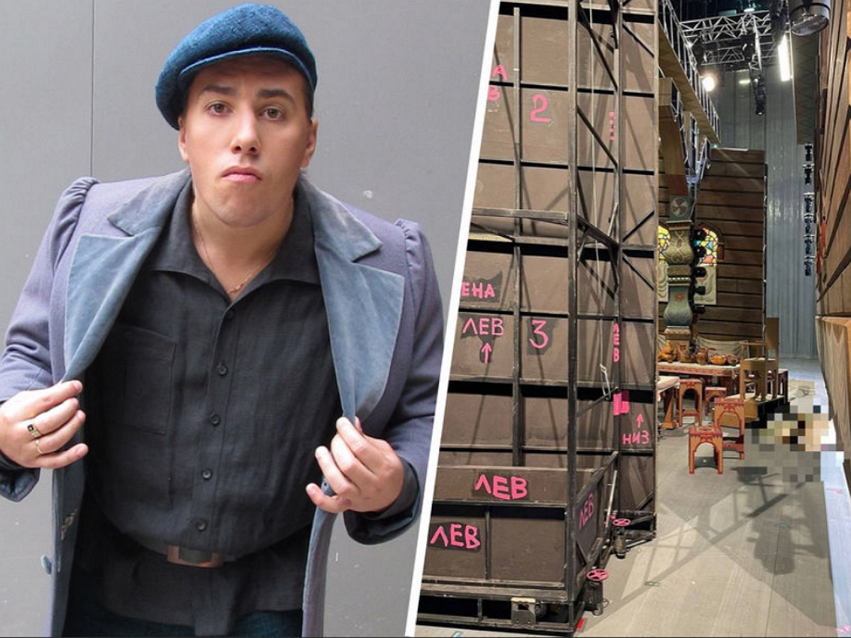 Russian actor Yevgeny Kulesh dies after being crushed by the set during an opera