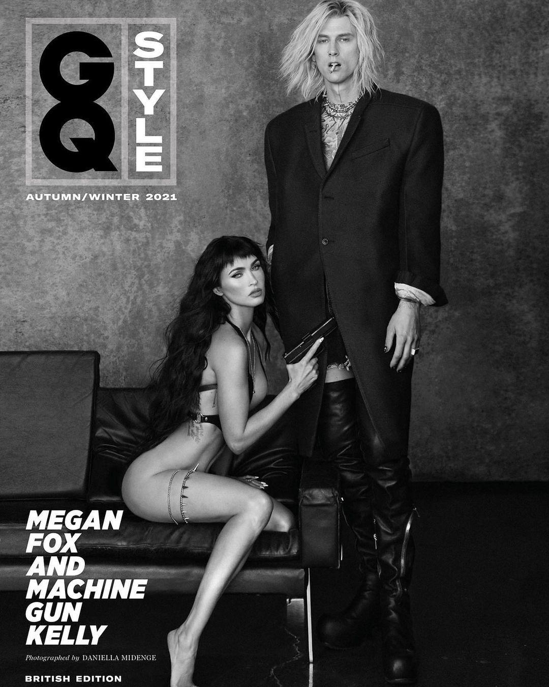 Меган Фокс снялась полностью обнажённой для обложки GQ в компании своего бойфренда